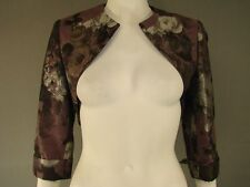 BNWT ALEXON PLUM COLOURED FLORAL PRINT BOLERO JACKET/SHRUG SIZES 8-22 - RRP £99