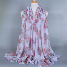 New!! Fashion Stylish Women Ladies Long Soft Silk Voile Scarf Wrap Shawl Scarves