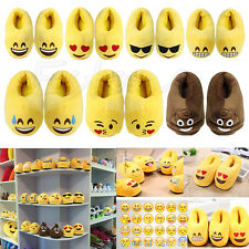Emoji Cute Unisex Slippers Warm Winter Home Shoes Indoor Slippers Plush Slipper