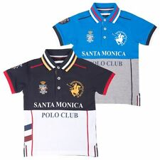 Boys Polo Shirt Short Sleeve Collared Kids T Shirt 4-10 Years By Santa Monica