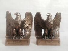 Pair of 1776 Brass American Bald Eagle Bookends by Philadelphia MFG Co. PMC 112E
