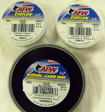LEADER 60 LB, 30 FEET - AFW 1X7 SURFLON - COATED - STAINLESS STEEL FISHING WIRE