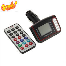 1.44 inch LCD Car MP3 Player Wireless FM Transmitter USB TF Card +Remote Control