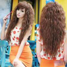 Long Cosplay Fashion New Hair Wigs Sexy Wavy Party Full Curly Womens 3 Colors