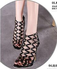 Womens High Heel Open Toe Roma Sandals Hollow Out Gladiator Stilettos Shoes Size