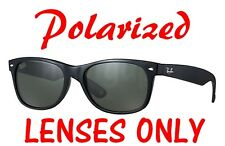 POLARIZED Black/Grey Replacement Lenses Ray Ban RB2132 New Wayfarer 55mm 52mm