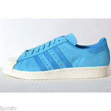 Adidas Originals Superstar 80's Classic Casual Shoes Sneakers (D65535) Blue