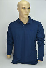 FRED PERRY MAGLIA POLO MANICA LUNGA UOMO-MAN POLO SHIRT TG.L BLU DENIM 30102265