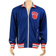Mitchell And Ness New York Knicks NBA Preseason Warm Up Track Jacket (blue) 6025