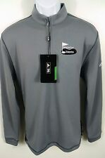 ADIDAS GOLF Performance Therma Half Zip Pullover Jacket Coat, Gray, 100% Poly