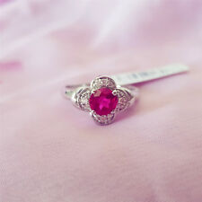 925 Sterling silver Ring, sizes 7, 7.5, 8, AAAAA grade CZ Ruby, FREE POST