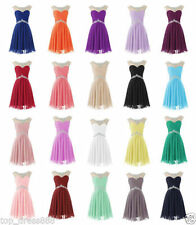 Stock Chiffon Mini Short Sweetheart Cocktail Evening Prom Party Ball Gown Dress