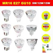 LED Spotlight Bulbs MR16 GU10 E27 9W 12W 15W Warm Cool  Ultra Bright CREE Light