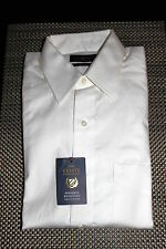 CLUB ROOM MENS WRINKLE RESISTANT PINPOINT DRESS SHIRT WHITE 8 SIZES $52.50 NWT