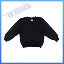 Boys Girls Kids Fleecy Fleece School Wear Uniform Jumper Sz Sweatshirt Black