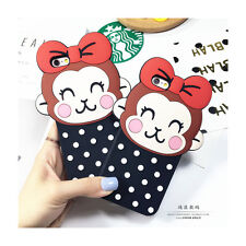 Cute Korean Polka Dot Bow Monkey Silicone Case Cover for iPhone 5/5S 6/6S 6 Plus