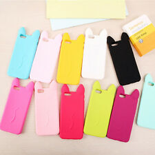 Cute Candy Jelly KOKO Cat Soft Silicone Case Cover for Apple iPhone 4/4S 5 6/6S