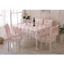Tablecloth Pink Rose Rural Lace Bedside Cloth Floral Table Cover No Chair Cover