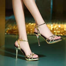 Womens Sexy Pumps High Heels Platform Open Toe Stiletto casaul Shoes Sandals