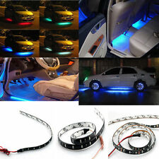 2Pcs Waterproof  12 LEDs 30cm 5050 SMD LED Strip Light Flexible 12V Car Decor