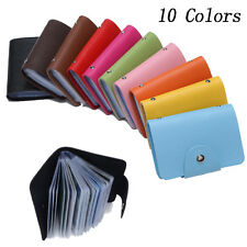 Credit Card Holders Business ID Case PU Leather Pocket  Wallet for 20 Cards NEW