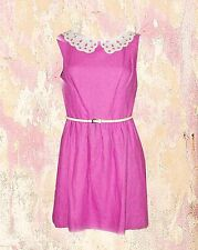 NWT KENSIE Linen Pink Lined Pleated Sleeveless Dress 2 6 8 10 US  $120