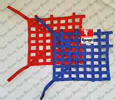 Autograss Motorsport Velcro Safety Window Net Red Blue 45 x 60cm (18x21 inch)
