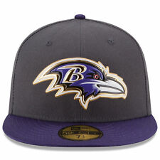 Baltimore Ravens New Era NFL Gold Collection 59FIFTY Fifty Hat-Gray/Purple