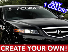 "CUSTOM ACURA "" ANY TEXT "" DECAL STICKER   Any 1 Color 5"" x 40"""