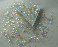 SS6 Jelly CRYSTAL WHITE AB  2mm  Faceted Flatback Rhinestones 5000pcs Nail Art