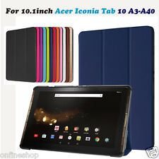 Folding Stand Leather Case Skin Cover For 10.1inch Acer Iconia Tab 10 A3-A40