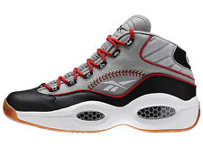 New Men's REEBOK Question Mid Practice - V67904 Grey Black White Allen Iverson