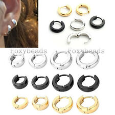 Pair Stainless Steel Hoop Huggies EarHelix Earrings Mens Womens Jewelry HOT Gift