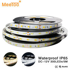 5M 3528 5050 5630 SMD 300 LED Strip Light Flexible Waterproof Lamp Bright White