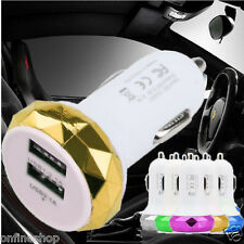 2 Port Mini Dual USB Car Charger Adapter Bullet For IPhone Samsung Universal Use