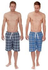 Mens Cargo Bay 100% Cotton Flannel Lounge Shorts / Pyjama Bottoms