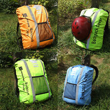 Reflective High Hi Viz Rucksack Backpack Bag Waterproof Cover Cycling Running