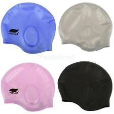 Silicone Unisex Adult Waterproof Swimming Swim Bath Shower Cap Hat - 4 Colors