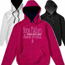 Matter Breast Cancer Pink Ribbon Charity Race For Life Ladie Womens Hoody Hoodie