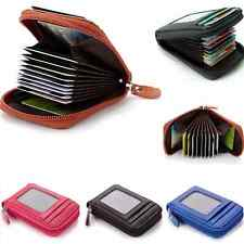 Mens/Womens Mini Leather Wallet ID Credit Cards Holder Organizer Purse one