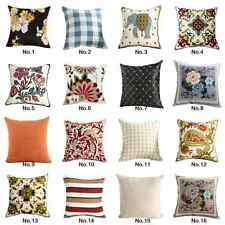 """18""""Room Decorative Cushion Cover Back Seat Sofa Throw Pillow Case Yellow Peonies"""