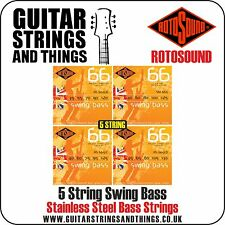 Rotosound 66 SWING BASS 5 STRING Electric Bass Guitar Strings - ALL GAUGES