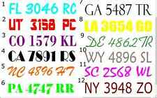 "PAIR 3"" x 20"" Boat ski air boat REGISTRATION NUMBERS choose FONT free shipping"