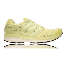 Adidas Supernova Glide Boost 7 Womens Yellow Green Cushioned Running Shoes