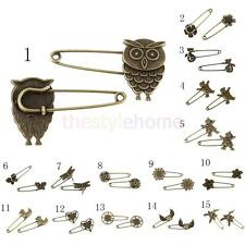 10 Bronze Retro Alloy Unique DIY Pin Scarf Brooches Crafts Jewelry