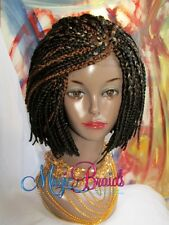 "fully Hand-Braided-Lace-Front-WIG-box-Braids-color-2/27/30 sort 12"" gorgeous"