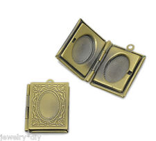 Wholesale JD  Bronze Tone Rectangle Picture/ Photo Locket Frame Pendants 21x19mm