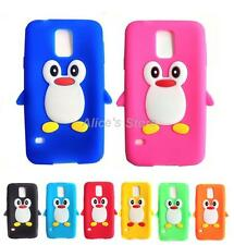 for Samsung Galaxy SV S5 I9600 3D Cute Penguin Soft Silicone Rubber Case Cover