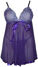 Women Babydoll Negligee Chemise Sexy Lingerie Plus Size 14 16 18 20 22 24 26