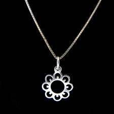 FASHIONS FOREVER STERLING SILVER HELIOTROPIC SUNFLOWER NECKLACE-PENDANT